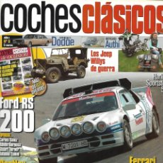 Coches: COCHES CLÁSICOS Nº 9 AÑO I. FORD RS 200. ESPECIALES DODGE. LOS JEEP WILLYS DE GUERRA. Lote 231063385