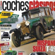 Coches: COCHES CLÁSICOS Nº 29 AÑO III. HISPANO SUIZA T - 49. PRUEBA SEAT RONDA. Lote 231067085