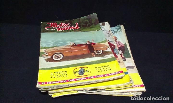 GRAN LOTE DE LA REVISTA - MOTOR MUNDIAL - AÑOS 50 (Coches y Motocicletas Antiguas y Clásicas - Revistas de Coches)