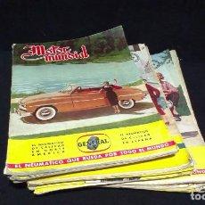 Coches: GRAN LOTE DE LA REVISTA - MOTOR MUNDIAL - AÑOS 50. Lote 231669270