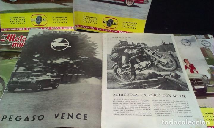 Coches: GRAN LOTE DE LA REVISTA - MOTOR MUNDIAL - AÑOS 50 - Foto 4 - 231669270