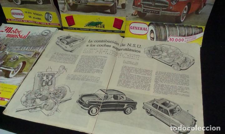 Coches: GRAN LOTE DE LA REVISTA - MOTOR MUNDIAL - AÑOS 50 - Foto 6 - 231669270