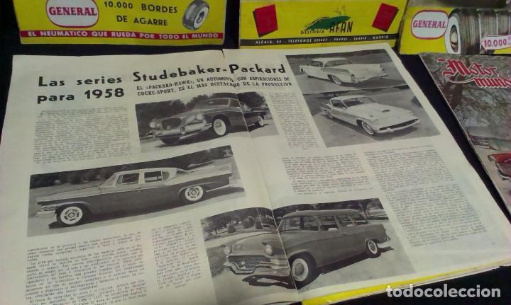 Coches: GRAN LOTE DE LA REVISTA - MOTOR MUNDIAL - AÑOS 50 - Foto 7 - 231669270