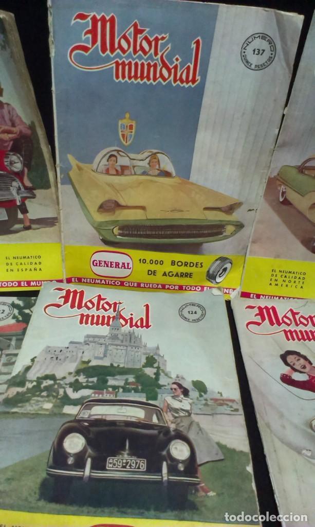 Coches: GRAN LOTE DE LA REVISTA - MOTOR MUNDIAL - AÑOS 50 - Foto 9 - 231669270
