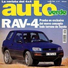 Coches: AUTO VERDE Nº 67 TOYOTA RAV-4 FORD MAVERICK 2.7 TD SUZUKI VITARA 16V OPEL FRONTERA 2.3 TD. Lote 233107735