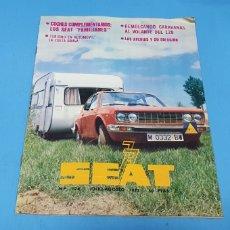 Coches: REVISTA SEAT N° 124 JULIO - AGOSTO 1977. Lote 234656420