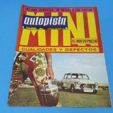 Coches: REVISTA AUTOPISTA - NÚMERO 525 - MARZO 1969. Lote 234668590
