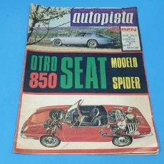 Coches: REVISTA AUTOPISTA - NÚMERO 434 - JUNIO 1967. Lote 234814610