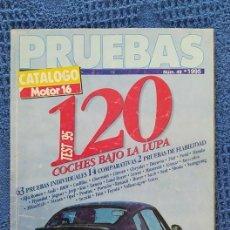 Coches: CATÁLOGO MOTOR 16 PRUEBAS NUM 49 AÑO 1995 140 PAGINAS, COMO NUEVO. Lote 235462070
