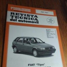 Coches: FIAT TIPO - MANUAL DE TALLER - REVISTA TECNICA DEL AUTOMOVIL - Nº 7 SEPT. 1993. Lote 236274055
