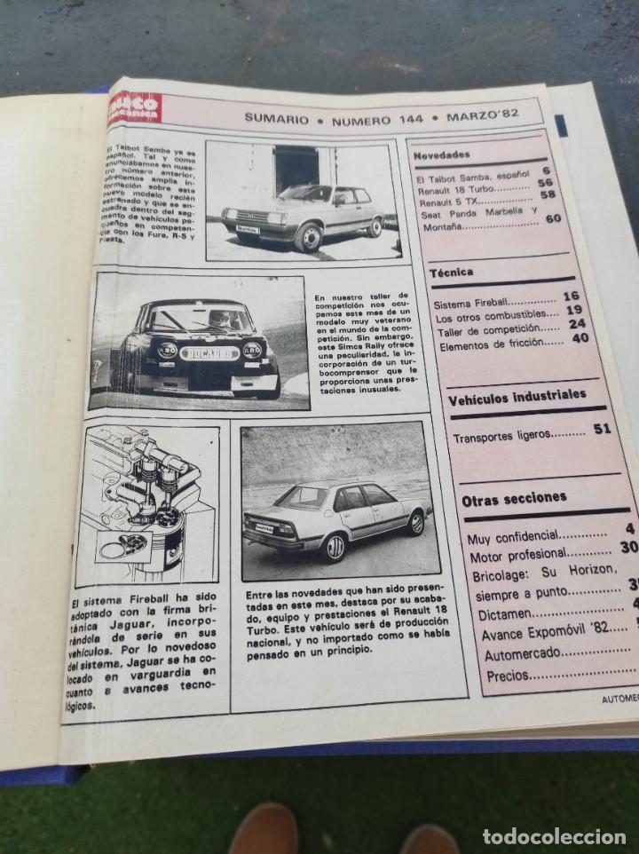 Coches: Revista automecanica 1982-1983 - Foto 5 - 236559930
