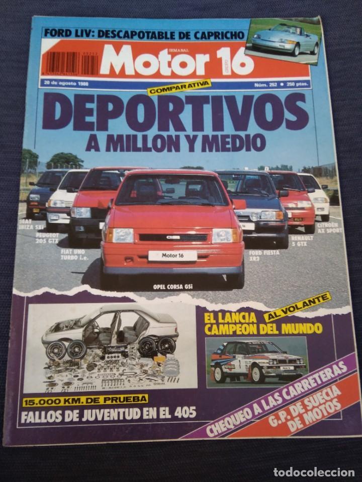 MOTOR 16. 252 (Coches y Motocicletas Antiguas y Clásicas - Revistas de Coches)