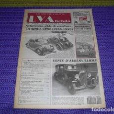 Coches: LA VIE DE L'AUTO Nº 592 - 1993 - FIAT 500 TOPOLINO 1936-1949. Lote 238488535