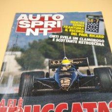 Coches: REVISTA AUTO SPRINT 48 NOVIEMBRE 1985 ITALIANA. Lote 238570575
