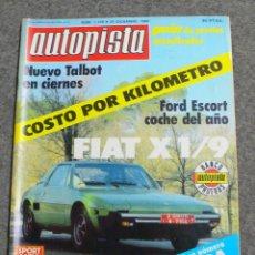 Coches: REVISTA AUTOPISTA Nº 1.129 DE 20 DICIEMBRE 1980. Lote 241099670
