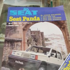 Carros: ANTIGUA REVISTA COCHES AUTOMOVIL SEAT PANDA NUM 156 1980. Lote 241660250