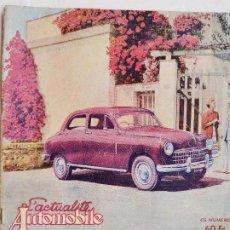 Auto: 1950 REVISTA L`ACTUALITE AUTOMOBILE - SALON 1950 RARO. Lote 242361690