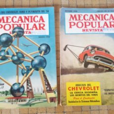 Coches: 2 REVISTAS MECANICA POPULAR PRUEBA Y ANALISIS DEL CHEVROLET AÑOS 1956 - 1958. Lote 242921045