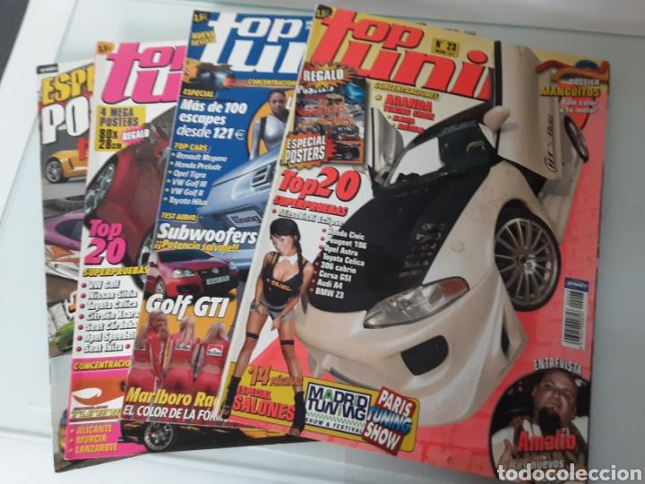 LOTE 4 REVISTAS TOP TUNING (Coches y Motocicletas Antiguas y Clásicas - Revistas de Coches)