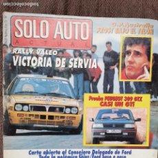 Coches: 1988 REVISTA SOLO AUTO ACTUAL - ALFA ROMEO 75 1.8 IE - VOLVO 440 - RALLY VALEO - PEUGEOT 309 GTX. Lote 243170620