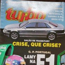 Coches: 1993 REVISTA TURBO - LANCIA DELTA INTEGRALE - IBIZA GTI - CARINA SW - GP DE PORTUGAL. Lote 243612980