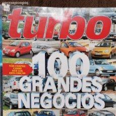 Coches: 1999 REVISTA TURBO - HONDA S 2000 - SAAB 9-3 SPORT - BMW 328 CI - ROVER 75. Lote 243614250