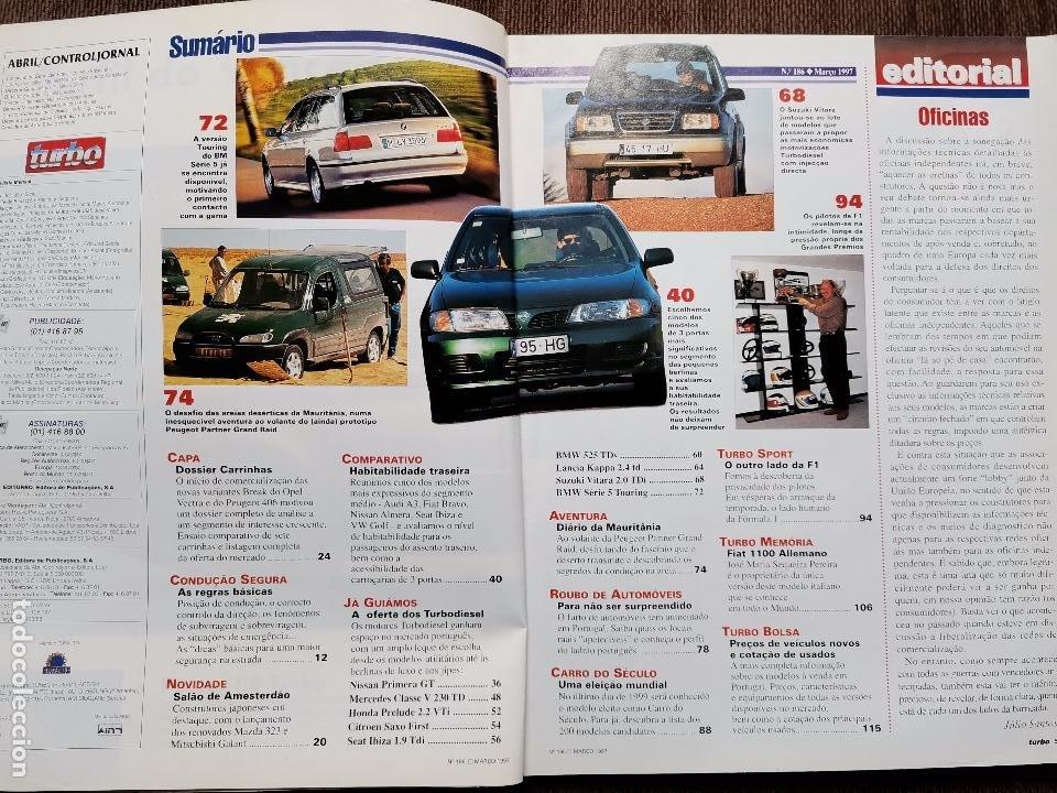 Coches: 1997 REVISTA TURBO - NISSAN PRIMERA GT - HONDA PRELUDE 2.2 VTI - CITROEN SAXO FIRST - SEAT IBIZA 1.9 - Foto 2 - 243644095
