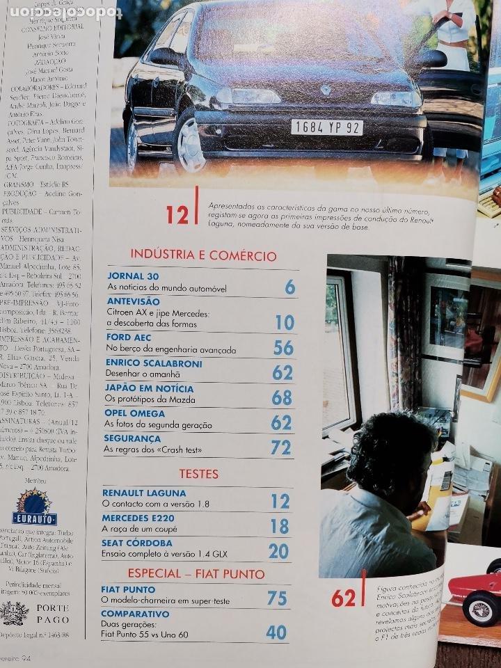 Coches: 1994 REVISTA TURBO - SEAT CORDOBA 1.4 GLX - FIAT PUNTO - PARIS DAKAR - Foto 2 - 243644435