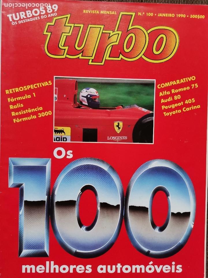 1990 REVISTA TURBO - FORMULA 1 - RALLYES - ALFA ROMEO 75 - AUDI 80 - PEUGEOT 405 - TOYOTA CARINA (Coches y Motocicletas Antiguas y Clásicas - Revistas de Coches)