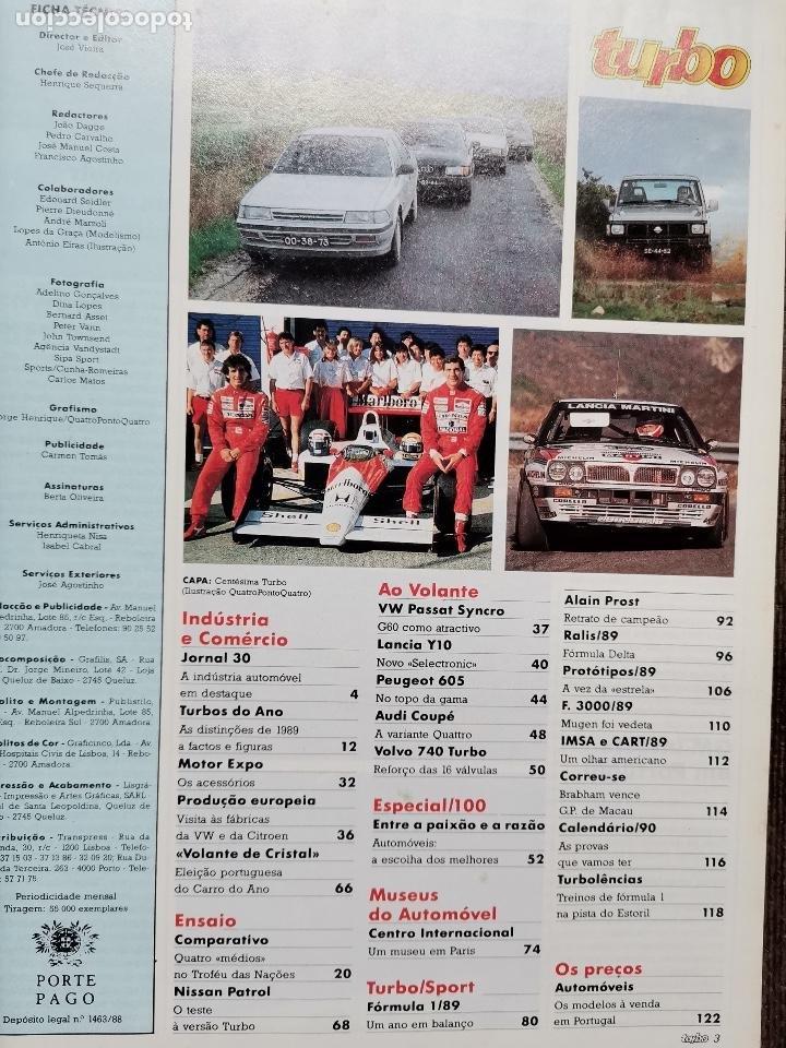 Coches: 1990 REVISTA TURBO - FORMULA 1 - RALLYES - ALFA ROMEO 75 - AUDI 80 - PEUGEOT 405 - TOYOTA CARINA - Foto 2 - 243645400