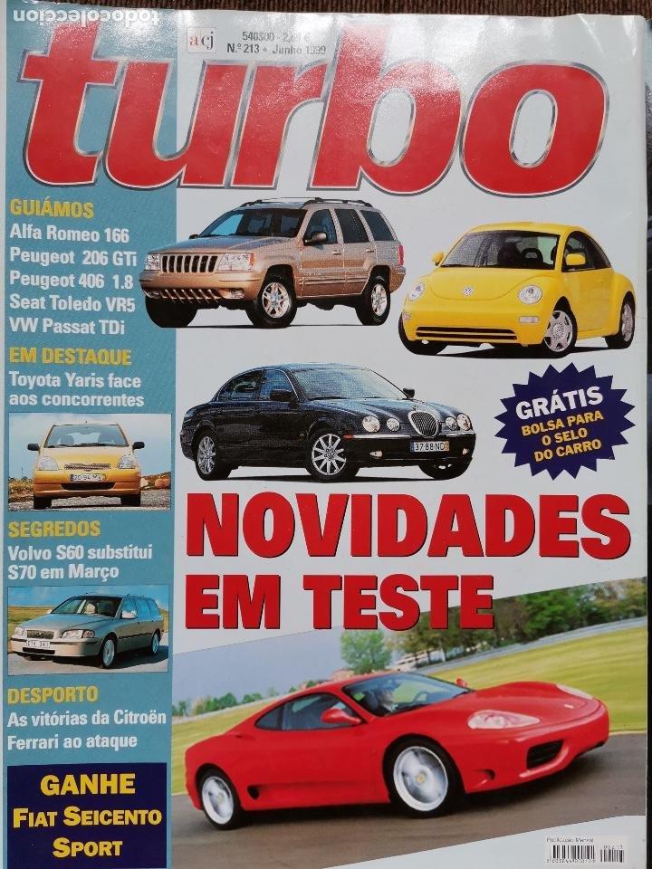 1999 REVISTA TURBO - PEUGEOT 206 GTI - SEAT TOLEDO VR5 - ALFA ROMEO 166 - JEEP GRAND CHEROKEE (Coches y Motocicletas Antiguas y Clásicas - Revistas de Coches)