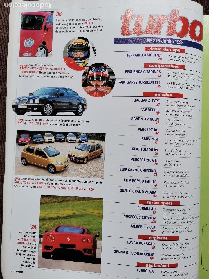 Coches: 1999 REVISTA TURBO - PEUGEOT 206 GTI - SEAT TOLEDO VR5 - ALFA ROMEO 166 - JEEP GRAND CHEROKEE - Foto 2 - 243646820