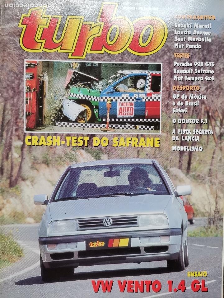 1992 REVISTA TURBO - PORSCHE 928 GTS - RENAULT SAFRANE - FIAT TEMPRA 4X4 (Coches y Motocicletas Antiguas y Clásicas - Revistas de Coches)