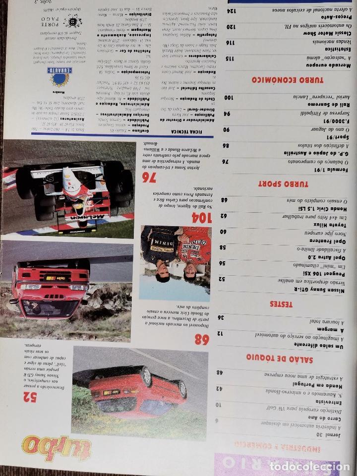 Coches: 1991 REVISTA TURBO - RALLY SANREMO Y CATALUÑA - NISSAN SUNNY GTI R - TOYOTA HILUX 4X4 - Foto 2 - 243650740