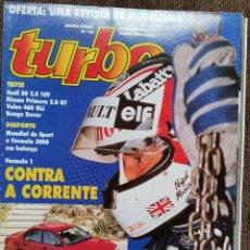 Coches: 1992 REVISTA TURBO - AUDI 80 2.0 16V - NISSAN PRIMERA 2.0 GT - VOLVO 460 GLI - RANGE ROVER. Lote 243651355