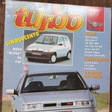 Coches: 1991 REVISTA TURBO - SEAT TOLEDO 1.8 16 V - MINI COOPER - VW POLO G40 - ROVER 216 GTI. Lote 243652325