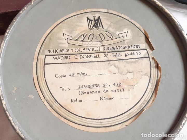 Coches: Película sonora del NODO en 16 mm. Imágenes Nº 412, Escenas de Caza. Con funda de Piel. - Foto 2 - 243856520