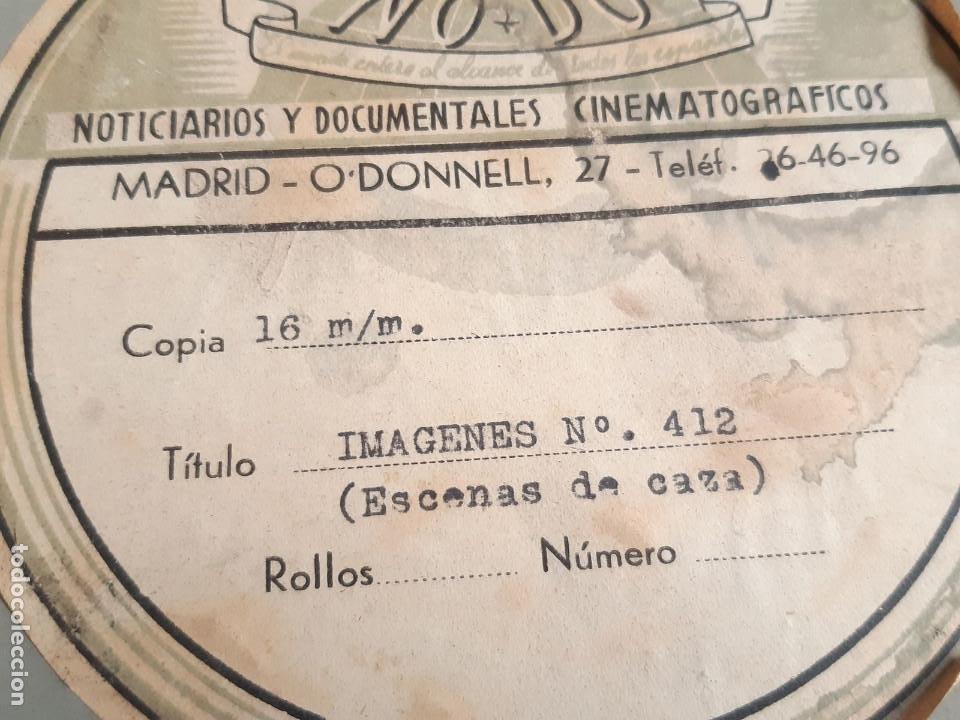 Coches: Película sonora del NODO en 16 mm. Imágenes Nº 412, Escenas de Caza. Con funda de Piel. - Foto 4 - 243856520