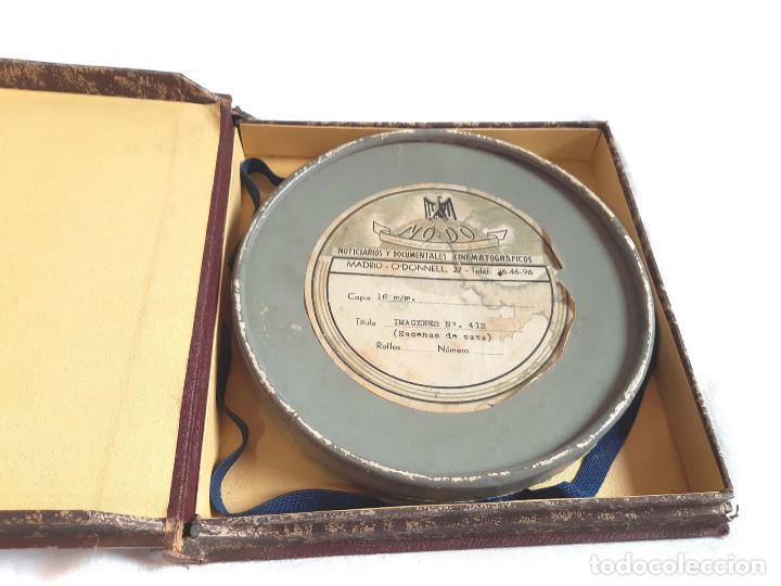Coches: Película sonora del NODO en 16 mm. Imágenes Nº 412, Escenas de Caza. Con funda de Piel. - Foto 10 - 243856520