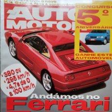 Coches: 1994 REVISTA AUTO MOTOR - FERRARI F 355 - CATHERAM 7 SUPER SPRINT - SAAB 900 CABRIO. Lote 244906840