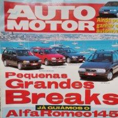 Coches: 1994 REVISTA AUTO MOTOR - ALFA ROMEO 145 - CATHERAM VS MORGAN K4 - FORD MONDEO GT. Lote 244907310