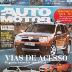 Coches: 2010 REVISTA AUTO MOTOR - VOLVO S60 D3 - BMW 520D - AUDI A7 - DACIA DUSTER 1.5 DCI. Lote 244907735