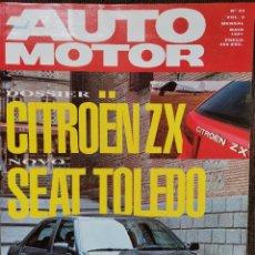 Coches: 1991 REVISTA AUTO MOTOR - CITROEN XZ - SEAT TOLEDO -FORD SCORPIO 24 V. Lote 244909335