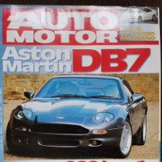 Coches: 1993 REVISTA AUTO MOTOR - ASTON MARTIN DB7 - FERRARI F40 - ROVER 220 TURBO - CLIO WILLIAMS. Lote 244909845