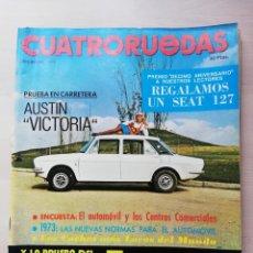 Coches: CUATRORUEDAS Nº 108 (DICIEMBRE 1972) PRUEBA AUTHI AUSTIN VICTORIA Y RENAULT 5. Lote 245071070