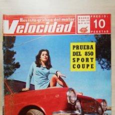 Coches: LOTE 15 REVISTAS VELOCIDAD AÑO 1969 Y 1970: SEAT 850 SPORT, SIMCA 1200, MEHARI, SEAT 1800 DIESEL. Lote 245075190