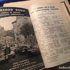Coches: REVISTA / BOLETIN DEL REAL AUTOMOVIL CLUB DE CATALUÑA AÑO 1954- 1955 . ENCUADERNADO EN UN VOLUMEN. Lote 245179700