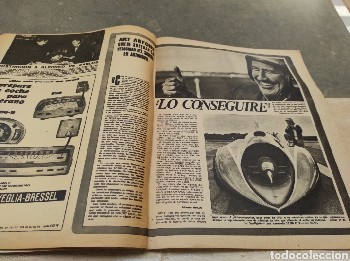 Coches: Revista Velocidad Nº458 - 1970 - Muerte Santiago Herrero - 24 Horas Le Mans - Jarama - Publi Sava - - Foto 8 - 245286455