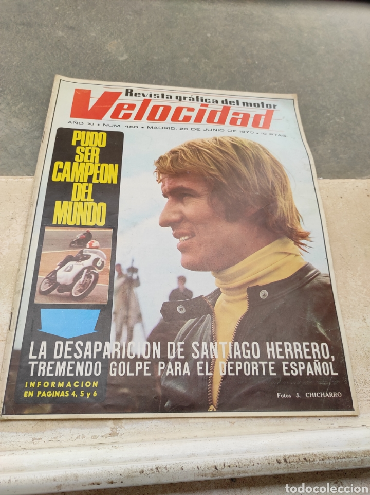 REVISTA VELOCIDAD Nº458 - 1970 - MUERTE SANTIAGO HERRERO - 24 HORAS LE MANS - JARAMA - PUBLI SAVA - (Coches y Motocicletas Antiguas y Clásicas - Revistas de Coches)