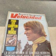 Coches: REVISTA VELOCIDAD Nº458 - 1970 - MUERTE SANTIAGO HERRERO - 24 HORAS LE MANS - JARAMA - PUBLI SAVA -. Lote 245286455
